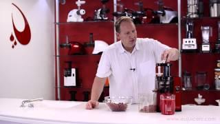 Sana Juicer by Omega EUJ-808 (juicing red currant), simple jam recipe