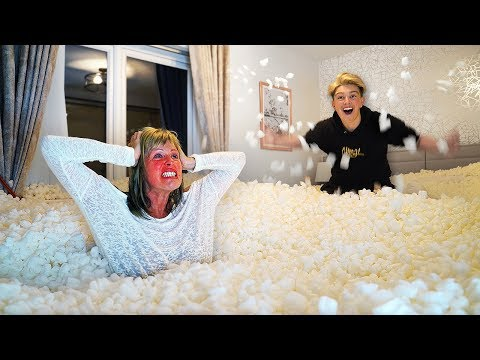 I Filled Mom&39;s Room with 1000000 Packing Peanuts *Gone Too Far*