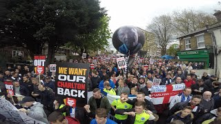 CHOICE TV - Charlton v Brighton C.A.R.D Protests 23/4/2016