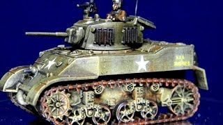 How to Paint 15mm US Stuart Tanks for Battlefront FoW