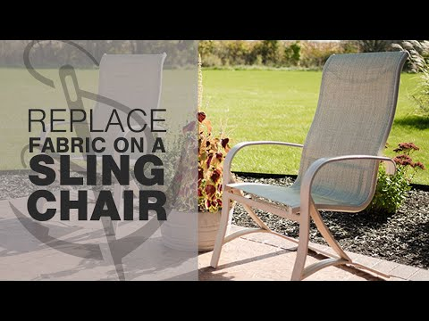 How to Replace Fabric on a Patio Sling Chair