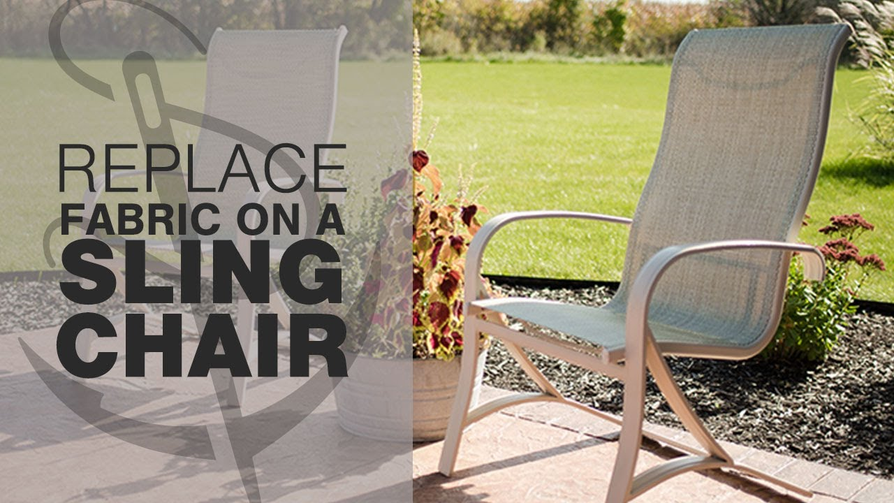 how to replace fabric on a patio sling chair - youtube
