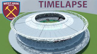 Minecraft - TIMELAPSE - London Olympic Stadium (West Ham United FC) + DOWNLOAD [Official]