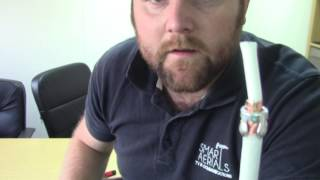 How to terminate a coaxial TV plug onto a coaxial cable