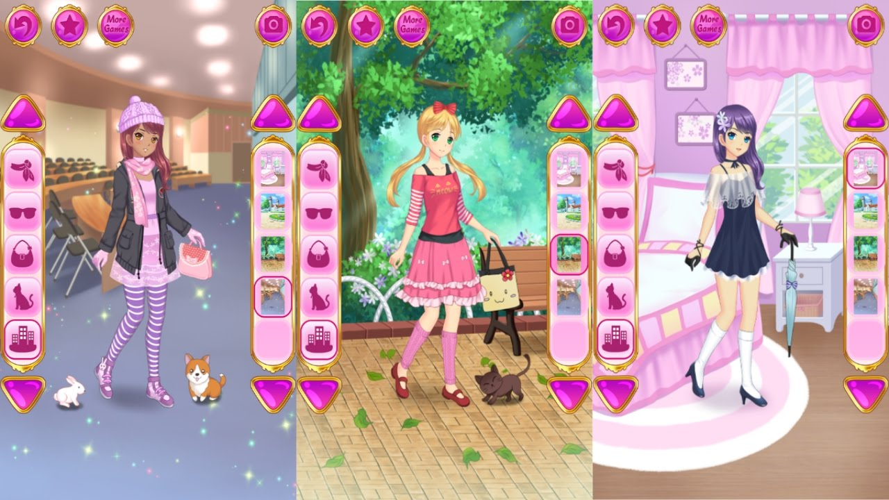 Anime Dress Up Games For Girls Android Gameplay Youtube