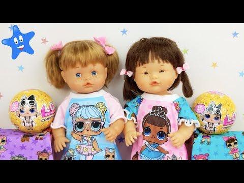 Ani y Ona se visten con ropa de LOL y abren bolas LOL Surprise Confetti pop