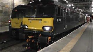 Caledonian Sleeper Class 92 at Edinburgh Waverley