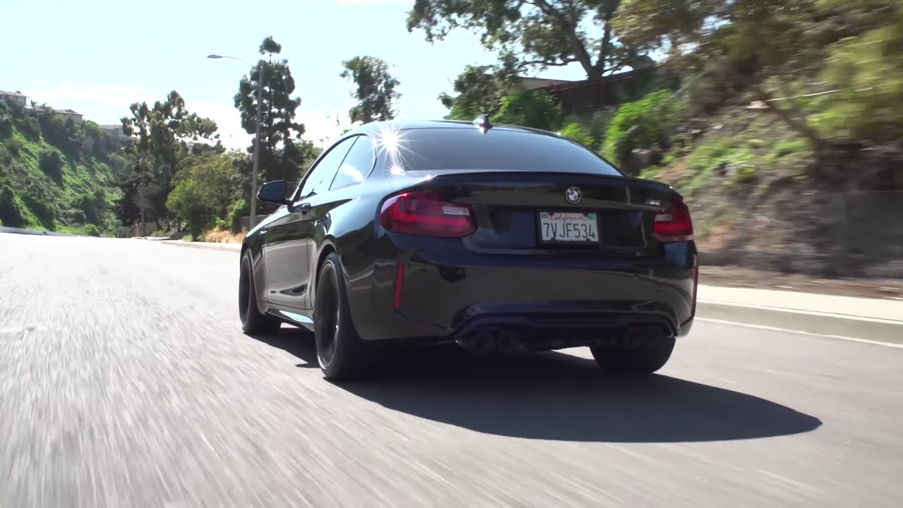bmw f87 m2 with remus cat back sport exhaust system