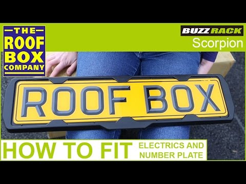 BUZZ RACK Scorpion - How to fit the electrics and number plate  sc 1 st  YouTube & BUZZ RACK Scorpion - How to fit the electrics and number plate - YouTube
