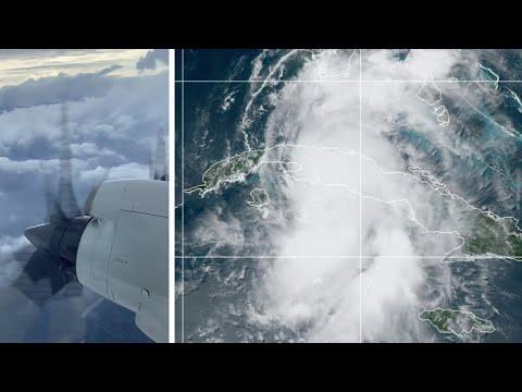 WATCH: Weather plane flies through Tropical Storm Elsa