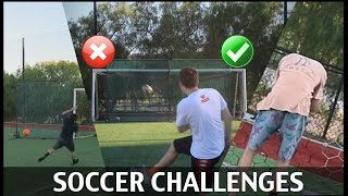 SOCCER CHALLENGES AND FF!!! ft. JESSER AND MOOCHIE