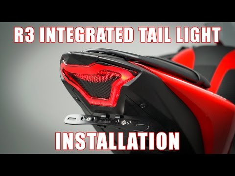 How to install an Integrated Tail light on a 2015+ Yamaha R3 by TST Industries