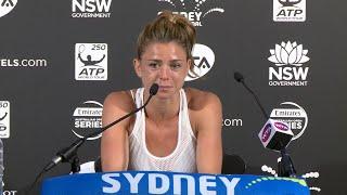 Camila Giorgi Press Conference (R1) | Sydney International 2018