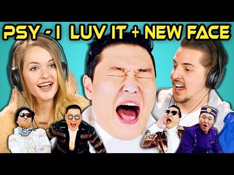 COLLEGE KIDS REACT TO PSY  I Luv It & New Face MV
