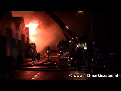 Zeer grote brand bij Lion Foods in Sint Maartensdijk