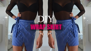 DIY | How To Make A Asymmetrical Wrap Skirt (pattern available)