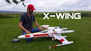 STAR WARS: X-WING twin EDF scratch build RC airplane