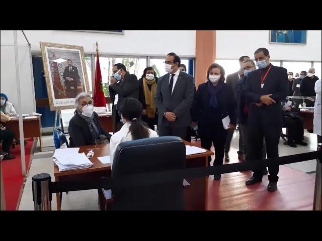 Visite de Mme. la Présidente d'UH2C à la FMPC en marge de la Campagne Nationale de Vaccination.