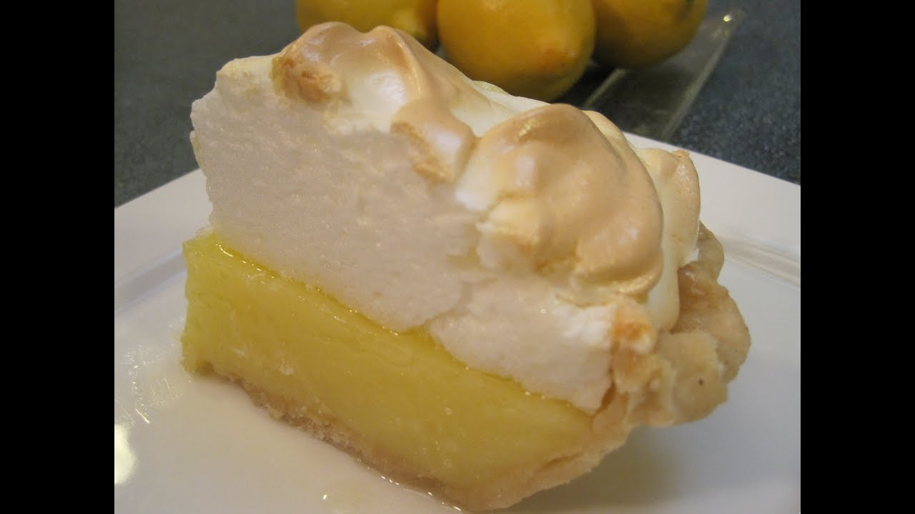 LEMON PIE FILLING with MERINGUE TOPPING - How to make
