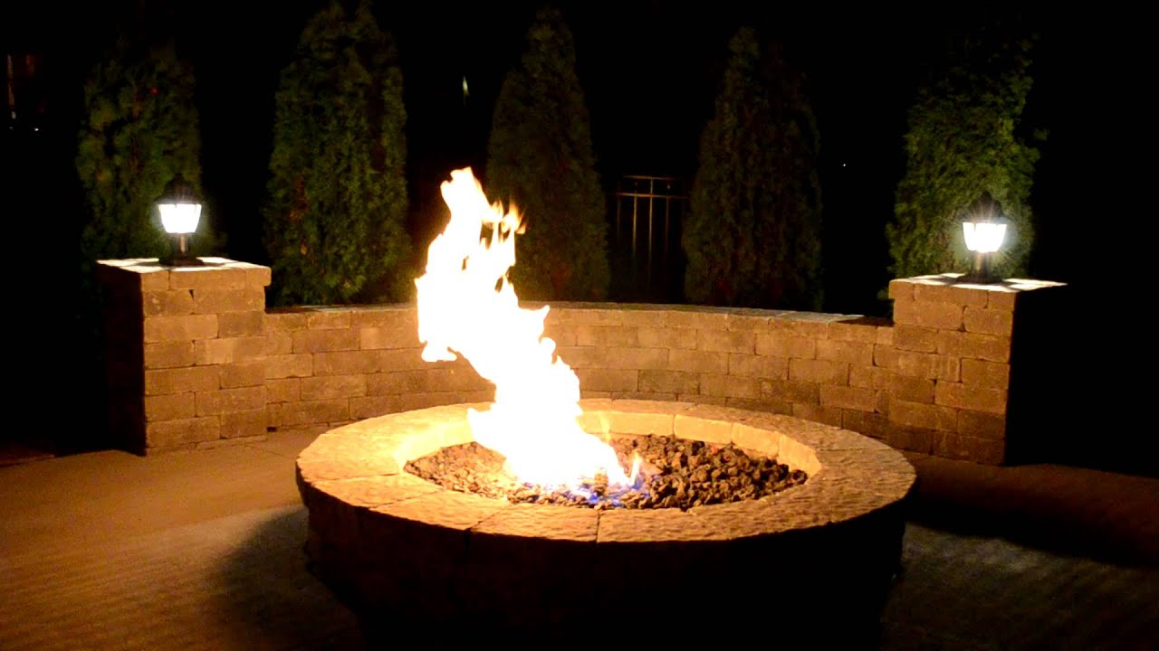 Natural Gas Fire Pit  YouTube