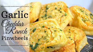 Garlic Cheddar Ranch Pinwheels I Appetizer I How to Make Garlic cheddar ranch pinwheels