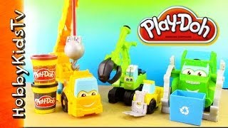 Play Doh Saw Mill, Mater, Buster, Rowdy - Build - Chuck The Truck Friends