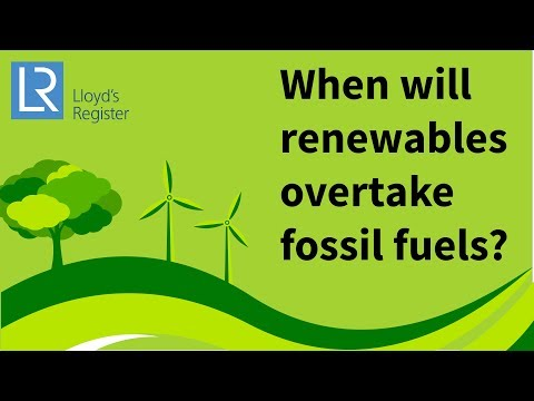 When will renewable energy overtake fossil fuels?
