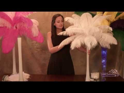 Ostrich Feather Centerpieces - How to Make