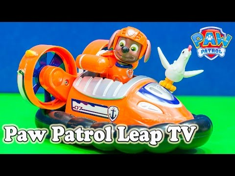 PAW PATROL Nickelodeon Paw Patrol Zuma Leap Tv Game a Paw Patrol Video Toy Review