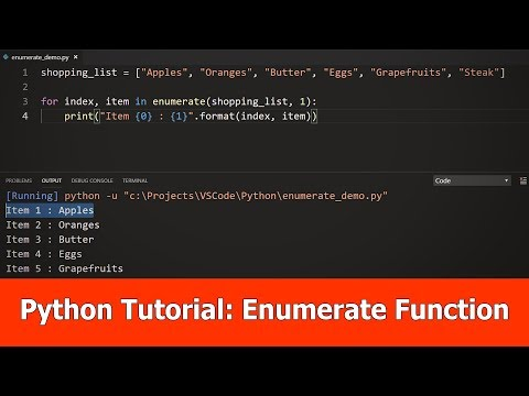 Python Tutorial for Beginners:  Enumerate thumbnail