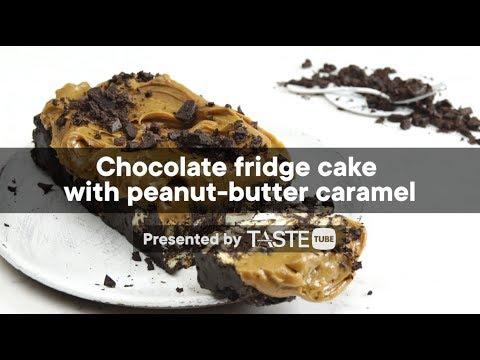 Chocolate Fridge Cake With Peanut-butter Caramel | Woolworths TASTE Magazine