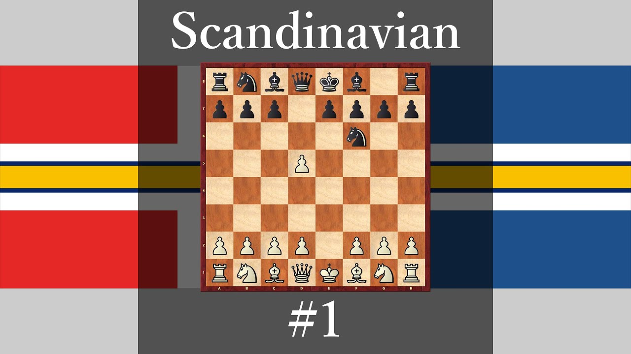 Chess Openings How Play Against Scandinavia Defense 1 1 E4 D5 2 Exd5 Nf6 3 D4 Youtube