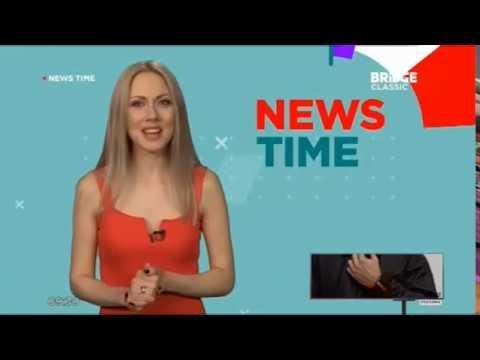 конец Wake Up Call, News time и заставки на BRIDGE TV Classic (9.02.2019)