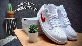 AIR JORDAN 1 LOW 'WHITE UNIVERISTY RED'