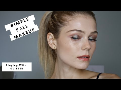 Simple Fall Makeup | Playing With Glitter | Bodyography