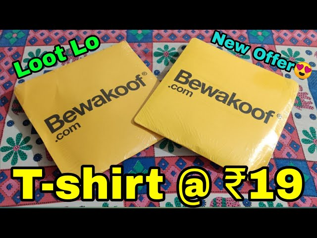[Loot] Bewakoof T-Shirt At ₹19 Only Loot Offer😍 || Bewakoof New Offer For All Users