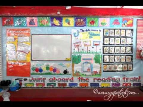 Preschool classroom decorating ideas youtube for Art classroom decoration ideas