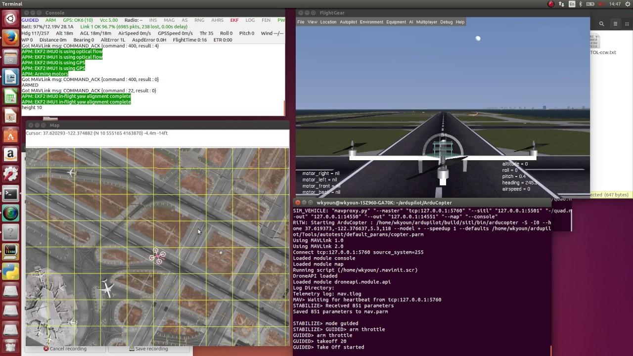 Setting up SITL on Linux with MAVproxy & FlightGear