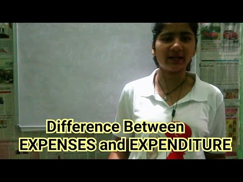 Basic difference between Expenses and Expenditure| QUESTION N ANSWER| SUNANDA MUDULI|