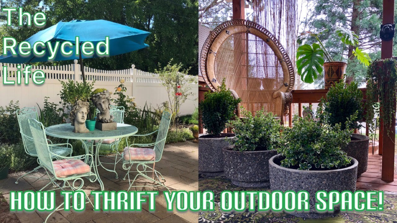 Thrifted Outdoor Garden Spaces How To Make Thrifted Bohemian