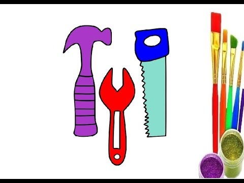 Repair Tools Drawing for kids | coloring pages for toddlers | Amazing Toys Drawing