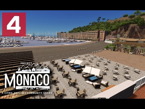 Cities: Skylines: Project: Monaco - EP 4 - Let the Plopping begin!
