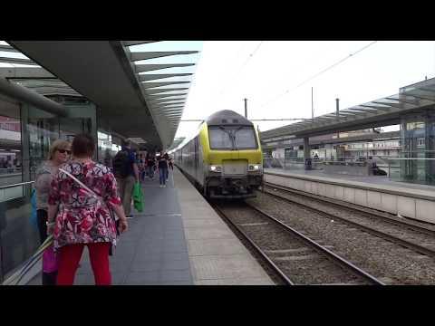 Bruges, Belgium - Intercity Train Arrives In Bruges (2018)