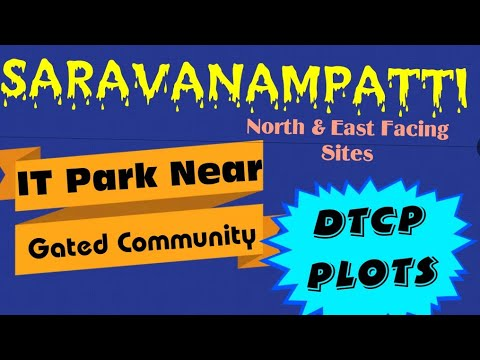 COIMBATORE  Land for sale in Saravanampatti beautiful place Coimbatore @ Residential Plot For Sale