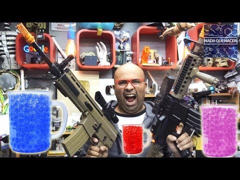 Prueba de Pistolas de Juguete de Bolas de Hidrogel Agua ¿son tan malas? |NQUEH