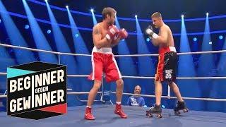 Boxen: Tyron Zeuge auf Rollschuhen | Teil 2 | Beginner gegen Gewinner | ProSieben