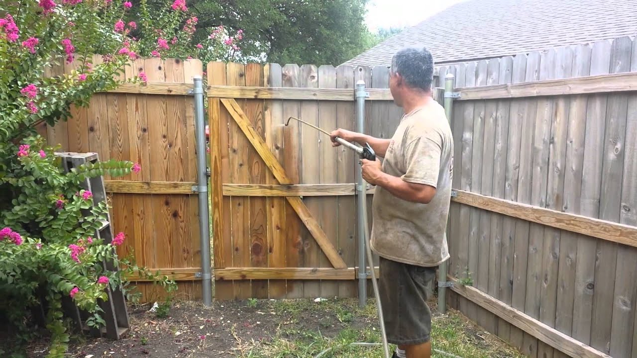 Wood Fence Treatment Youtube
