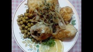 Рыба жареная с луком - быстро и очень вкусно