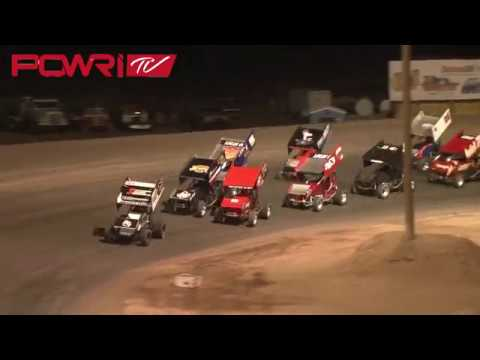 4/6/18 POWRi 305 Winged Sprint Car League A-Main HIghlights from Southern New Mexico Speedway
