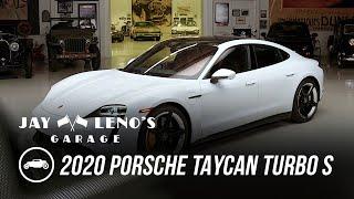homepage tile video photo for Brad Garrett, Jay Leno and the Porsche 2020 Taycan Turbo S - Jay Leno's Garage